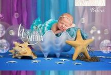 Mermaid Photography / Mermaid Photography Digital Backdrops for Babies and Children