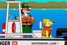 Bobber the Water Safety Dog / Shows how Bobber the Water Safety Dog and his friends get out and spread the word about wearing life jackets and other important water safety practices.
