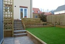 WoodBlocX Terracing and Steps / This board shows some of the steps and terracing designs our customers have used our WoodBlocX for.