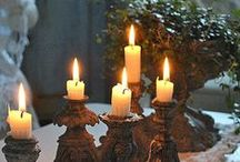 candles, candelabra and lights