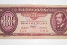 Money / 100 forintos bankjegy különböző címerekkel