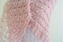 Crochet/ Haken: omslagdoek, poncho, sjaal