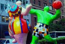 Niki de Saint Phalle / Frans-Amerikaanse kunstschilder en beeldhouwer: http://www.nikidesaintphalle.com/