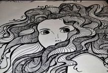 ZENTANGLE and other attempts at drawing / This board is gonna hold all my drawings which i do to kill boredom and also Zentangle is something which i have recently started.
