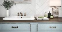 Subway Tiles - Trend / Subway tiles continued to be anything but ordinary. With mixed textures, unique dimensional effects, eye-catching installation patterns and distinctive sizes.