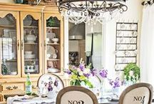 Dining Rooms / A love of all things french, shabby and vintage with a touch of casual elegance.