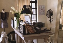 French Inspired Office / A love of all things french, shabby and vintage with a touch of casual elegance.