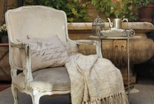 Vintage French Chairs / Vintage, shabby, chippy - so much to love about these chairs