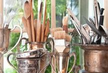 Vintage Silver as Everyday Decor / Antique silver used in everyday decorating