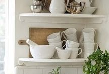 White Ironstone  / Vintage white ironstone - timeless and classic.