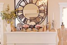 Decorated & Styled Mantels