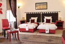 Suite triple du Riad Anyssates / Trois suites triples, peuvent être aménagées avec un lit Super King Size et un lit simple ou alors avec trois lits simples.
