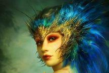 Bird makeup and such / Bird makeup and costume inspiration