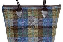 Harris Tweed Handbags / A selection of our Harris Tweed Handbags, please visit our website to view the current collection. The tweed is backed with rubber making the bags strong and waterproof.