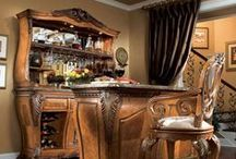 """Home Bar (LiquorList.com) / Whether you are just starting something or wanting to enhance your masterpiece, find inspiration from our board and the products to make it a reality at www.LiquorList.com  """"The Marketplace for Adults with Taste"""" @LiquorListcom   #LiquorList"""