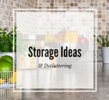 Storage ideas and declutter tips for everyone! / Cool, creative storage ideas and declutter tips for you to try in your home or office.