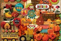 """Falling For Fall"" a Digital Scrapbook Kit by Scrapping Lu"