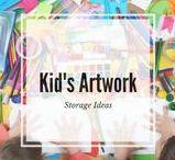 Storage Ideas:  Kid's Art and School Work