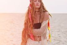 Festival Vibes / Bohemian styles for festival vibes!   fashion | style | boho | free | layers | jewelry | trends