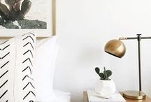Home Sweet Home • Home Decor and Interiors / Home decor and interior inspiration for the modern, minimal, and boho woman. We love spaces with a bit of rustic flair. Wood accents, white, metal details, lively plants, and interesting architecture is our preference!  Clean, classic, natural, and cozy vibes to make us feel like we're at home.