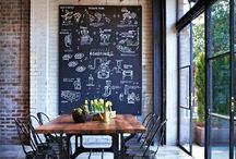 Chalkboard / Different lettertypes