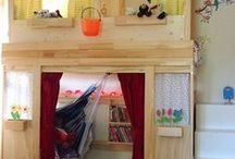Highbed Dreams / Inspirations to build a highbed for your kids. They will love it, in particular if they can throw in their own ideas and assist to build it.