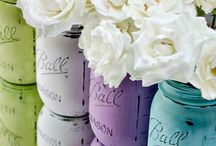 Mason Jar Ideas / ideas for using mason jars in crafts or gifts and mason jar art and Printables  / by Go Celebrate Gift Baskets