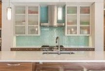 Kitchen Tile / Modwalls Tile Designs In Kitchens We Love. Backsplash tile looks great when installed all the way between countertops and cabinets. Tile as a feature wall is also beautiful in kitchen design.