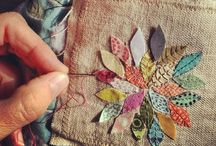 Sew... a needle pulling thread / So many beautiful things to create and make using textiles... Go wild!