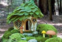 Fairy Cottages / Wither you believe in fairies or not these cute little homes will spark your imagination and enjoy the creativity of other's.