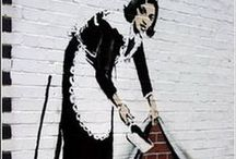 Art: Outside / Public art; Banksy; Chalk art; and more... / by Ardith
