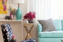 Colorful Interior Design / Beautiful residential spaces. Colorful and creative design.