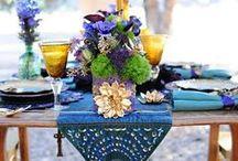 tafelversiering / Tafeldecoratie voor bruiloften en andere speciale bijeenkomsten.