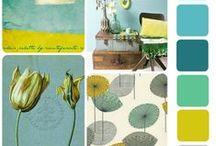Fraaie kleuren combinaties / Kleuren combinaties. Verschillende moodborden met fraaie kleuren combinaties die als inspiratie kunnen dienen voor interieur architecten, stylisten en kunstenaars.