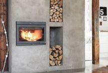 Beautiful fireplace / Mooie sfeer haarden die goed passen in een modern vormgegeven interieur.