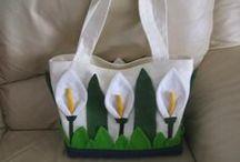 idee borse / manici, borse, fiori