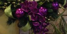 Purple Christmas / Create a magical Christmas with purple. It's warm and feels luxury. The best colour to finish this year in style.