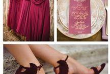 Марсала / Свадебные идеи в цвете марсала,очень модный и органичный цвет в 2015 году,по версии PANTON.