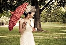 Umbrella & Parasol Weddings / www.katherinecourtney.com