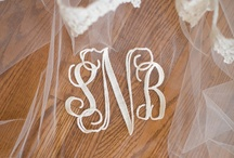 Monogrammed Weddings / www.katherinecourtney.com