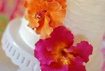 Orange and Pink Weddings / www.katherinecourtney.com