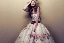 Printed Wedding Dresses / www.katherinecourtney.com