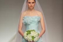Coloured Wedding Dresses / www.katherinecourtney.com