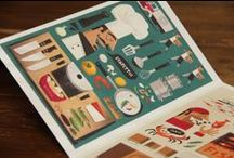 Zizzi Restaurant Menu / A four panel illustrated menu for Zizzi restaurants in the UK. Awarded by the 3x3 Illustration Annual No. 11