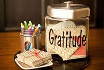 "Gratitude / ""My Gratitude Jar"" is a spin on the vision board: I pin images of all of the things that make me feel grateful for all of the blessings in my life. Do you have a Gratitude Jar? Find some inspiration about gratitude here and on my blog: http://www.drjulieconnor.com/how-to-feel-gratitude/"