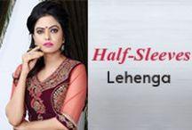 Half Sleeve Lehenga Choli