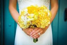 Yellow Wedding Flowers (Bouquets, Centerpieces, Decor) / Photos of yellow wedding flowers in bouquets, centerpieces and other ceremony and reception decor. Plus, flower-types in yellow.