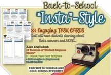 Middle School Task Cards / Unique task card sets that can be used with middle school students!