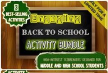 Unique Back to School Activities / Interesting and Fun Activities for the Classroom