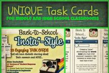 Unique Task Cards for Middle and High School / Task cards that can be used in middle and high school classrooms!